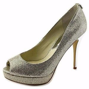 Michael Kors York Platform Pumps Glitter